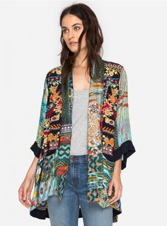 8af4f13f756e9 Koben Canvas Embroidered Kimono A true statement piece. Details   Care  —Silk Twill —