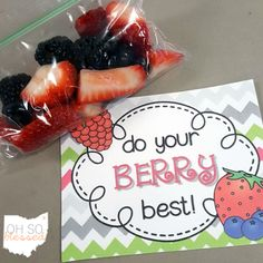 O-H So Blessed!: Healthy Testing Treats - budget-friendly tips for the classroom!
