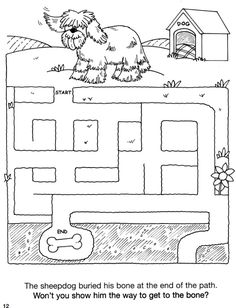 Welcome to Dover Publications. Cute coloring 'maze' pictures!