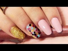 Easy Slaying Pink, Glittery Gold, & Polka Dots Nail Tutorial - http://47beauty.com/nails/index.php/nail-art-designs-products/  If you have a design in mind you want to see let me know below! FINALLY got my nails to grow pretty long! I have anxiety and it causes me to bite my nails off and most of the time I don't even realize I've bitten a nail off until it's in my mouth. My anxiety also causes me to bite my lips. Anyway, I figured since they're lo