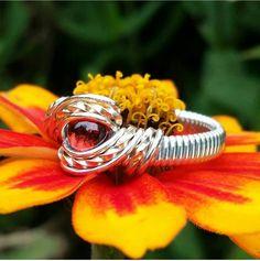 Größe 7 Granat Cabochon Ring von FireWireWorks auf Etsy