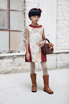 Special Occasion Dress, Girls Party Dress, Brick Fashion Dress
