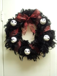 Nightmare Before Christmas wreath- took less than 30 minutes to make!