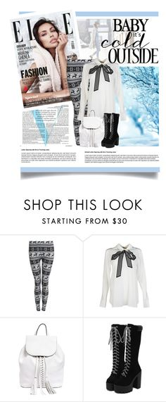 """""""baby it's cold outside"""" by soyance ❤ liked on Polyvore featuring Victoria Beckham, STELLA McCARTNEY, Rebecca Minkoff, Winter, white and cold"""
