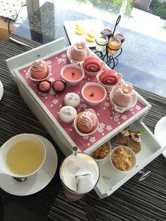 Sakura Afternoon Tea was gorgeous @ Okura Bangkok