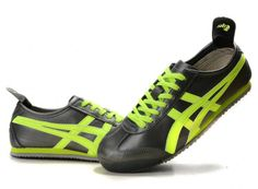 Mens Asics Onitsuka Tiger Mexico 66 Shoes Black Green