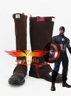 Captain-America-Civil-War-Steve-Rogers-Battleframe-Boots-Cosplay-Shoes-Custom