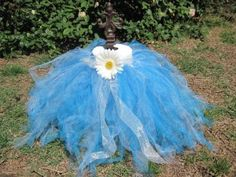 how one mommy made a tulle tutu skirt for her little one