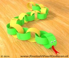 Slang van papier - Knutsels Voor Kinderen - Leuke Ideeën om te Knutselen met Duidelijke Uitleg