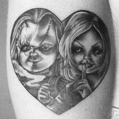 1000 images about chucky and bride tattoos on pinterest bride of chucky tags and tattoo designs. Black Bedroom Furniture Sets. Home Design Ideas