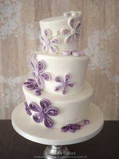 Topsy turvy wedding cake / Topsy turvy bruidstaart