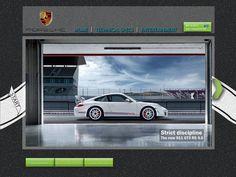 Interactive Porsche Web Design. On Photoshop & Illustrator