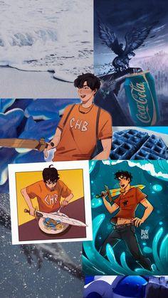 Arte Percy Jackson, Dibujos Percy Jackson, Percy Jackson Memes, Percy Jackson Books, Solangelo, Percabeth, Percy Jackson Wallpaper, The Lost Hero, Water Kids