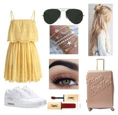 """""""Untitled #8"""" by yanka182 on Polyvore featuring Chicwish, MACBETH, NIKE, Ray-Ban and Yves Saint Laurent"""