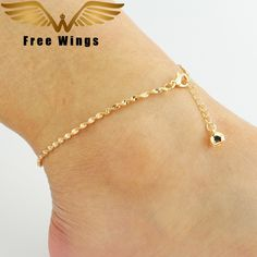 Ankle Bracelet Foot Leg Chain With fashion Cute Simple anklets Women Foot Jewelry For Female Best Friend Gifts B2.5