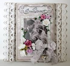 ♥ ♥ Heritage wedding page with dimensional flowers, ribbon, charm and beautifully punched heart-shape border. Heritage Scrapbooking, Scrapbooking Layouts, Scrapbook Pages, Websters Pages, Romantic Moments, Wedding Memorial, Wedding Scrapbook, Vintage Cards, Scrapbooks