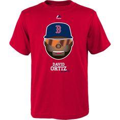 afa9333b2641ce Majestic Youth Boston Red Sox David Ortiz Emoji Red T-Shirt