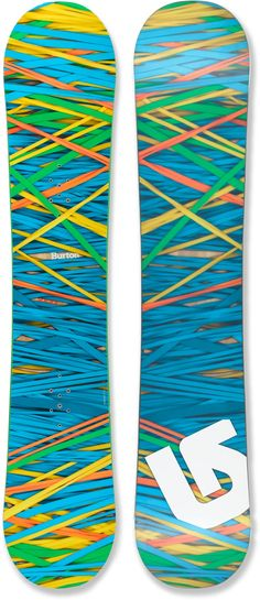 Burton Social Snowboard - looks like a rubber band ball! Snowboard Goggles, Ski Goggles, Ski And Snowboard, Winter Gear, Winter Fun, Winter Snow, Snowboard Design, Snowboarding Women