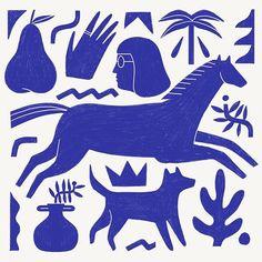 Azul, an art print by Abbey Lossing Illustration Arte, Illustration Design Graphique, Gravure Illustration, Ouvrages D'art, Arte Popular, Illustrations And Posters, Art Inspo, Illustrators, Art Paintings