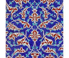 Görsel Sanatlar Deposu / Fine Arts Archive: Çini desen örnekleri Turkish Art, Turkish Tiles, Tile Art, Mosaic Art, Art Nouveau Tiles, Arabic Pattern, Tile Patterns, Geometric Art, Arabesque