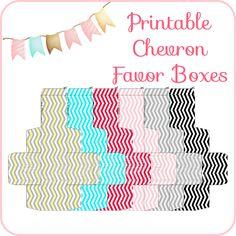 Chevron Boxes, free printables