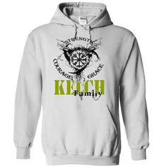 KELCH Family - Strength Courage Grace - #gift for teens #sister gift. TRY => https://www.sunfrog.com/Names/KELCH-Family--Strength-Courage-Grace-irgbzmzofx-White-50858721-Hoodie.html?68278