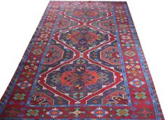 caucasian rug oversized rug soumak rug large carpet by POCCARugs