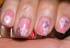 konad nails 1 | Flickr - Photo Sharing!  M65, M31+ Pastel pink, Violet pearl, White pearl, Pink pearl