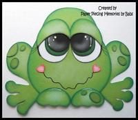 Frog Premade Paper Piecing for Scrapbook Pages by Babs