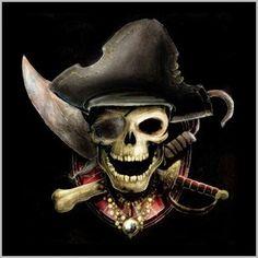75 Mejores Im 225 Genes De Calaveras Piratas Skulls Pirate