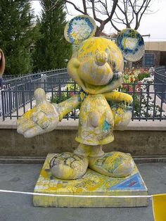 """Mickey: In Yellow"" by Rosie O'Donnell.  Celebrate Mickey:  75 years of Mickey InspEARations."