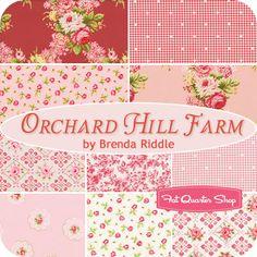 Orchard Hill Farm Fat Quarter Bundle Brenda Riddle for Lecien Fabrics