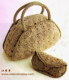 Risultati immagini per tejidos a crochet bolsos y carteras Crochet Instructions, Crochet Diagram, Crochet Patterns, Embroidery Patterns, Crochet Handbags, Crochet Purses, Crochet Bags, Mode Crochet, Summer Bags