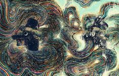 New Swirling Psychedelic Illustrations by James R. EadsExploring ideas of human connection and our relationships to nature, illustrator James R. Eads (previously) paints multicolored, psychadelic scenes that seem to pulsate with swirling patterns....