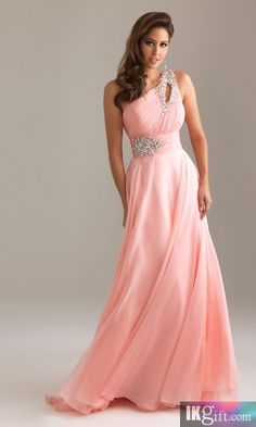 408330c9599df A-Line One-Shoulder Floor-length Chiffon and Sequins Prom Dress Prom Gowns