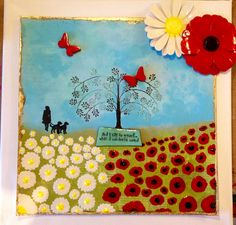 Life begins at.: Poppies and Daisies Lest We Forget, Great Love, Daisies, Poppies, Something To Do, Creativity, Canvas, Painting, Life