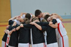 Prayer before a game - so glad our school still honors God before games!