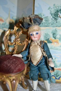 Charming french marquis mignonette all bisque doll 1880/1885 from lafarandolls on Ruby Lane