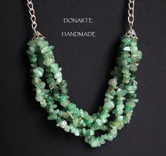 Gemstone chip strands necklace by DonarteHandmade on Etsy