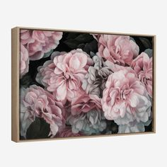 Pink Blooms Floral Painted Canvas Wall Art By The Print Emporium Flowers Feminine Beautiful