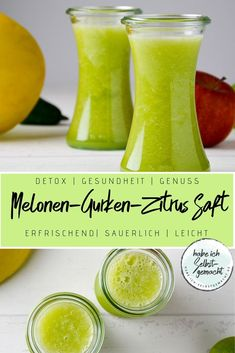 Recipe for a very refreshing and light-tasting juice made from honeydew melon, cucumber, orange, lime Honeydew Smoothie, Mint Smoothie, Honeydew Melon, Smoothie Bowl, Smoothie Recipes, Medan, Smoothies With Almond Milk, Citrus Juice, Fruits And Veggies