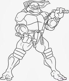 Resultado De Imagen Para Dibujos Para Colorear De Tortugas Ninja Miguel Angel Dibujos Tortugas Ninjas Tortugas