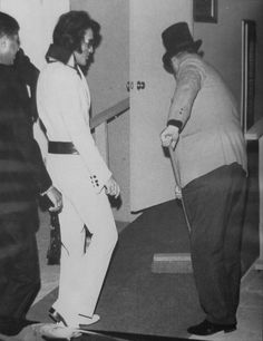 Elvis and the Colonel. Who said the Colonel didn't have a sense of humour. Elvis and he were always cutting it up as shown in the photo