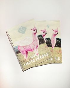 pink lamacorn booklet for your notes #unicorn