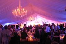 great tent lighting @Claire's wedding
