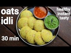 instant oats idli recipe, steamed oatmeal idli with step by step photo/video. an healthy and tasty savoury cake recipe made with powdered oats and yogurt. Indian Food Recipes, Vegetarian Recipes, Cooking Recipes, Ethnic Recipes, Oats Idli, Yogurt Curry, Roasted Baby Potatoes, Indian Appetizers
