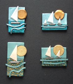 Claire Fairweather - polymer clay artist, designer and tutor: Polymer Clay vs Friendly Plastic for brooch designs