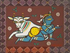 Jamini Roy - Untitled (Krishna with cow)
