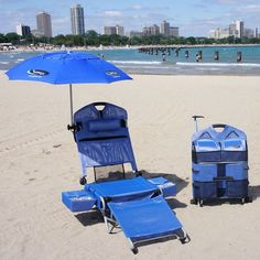 be4138999dde Beach Lounger Pack Chair with Speakers and Digital Amplifier