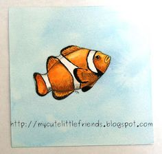 Nemo, the clownfish, watercolor hand painting - inspiration